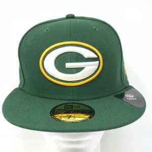 Green Bay Packers NFL Fitted 59Fifty Flat Brim Hat